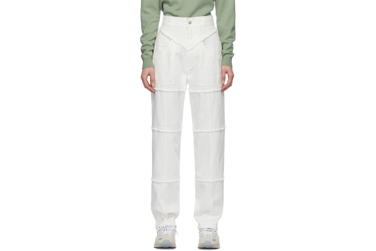 Ambush White High-Waisted Jeans