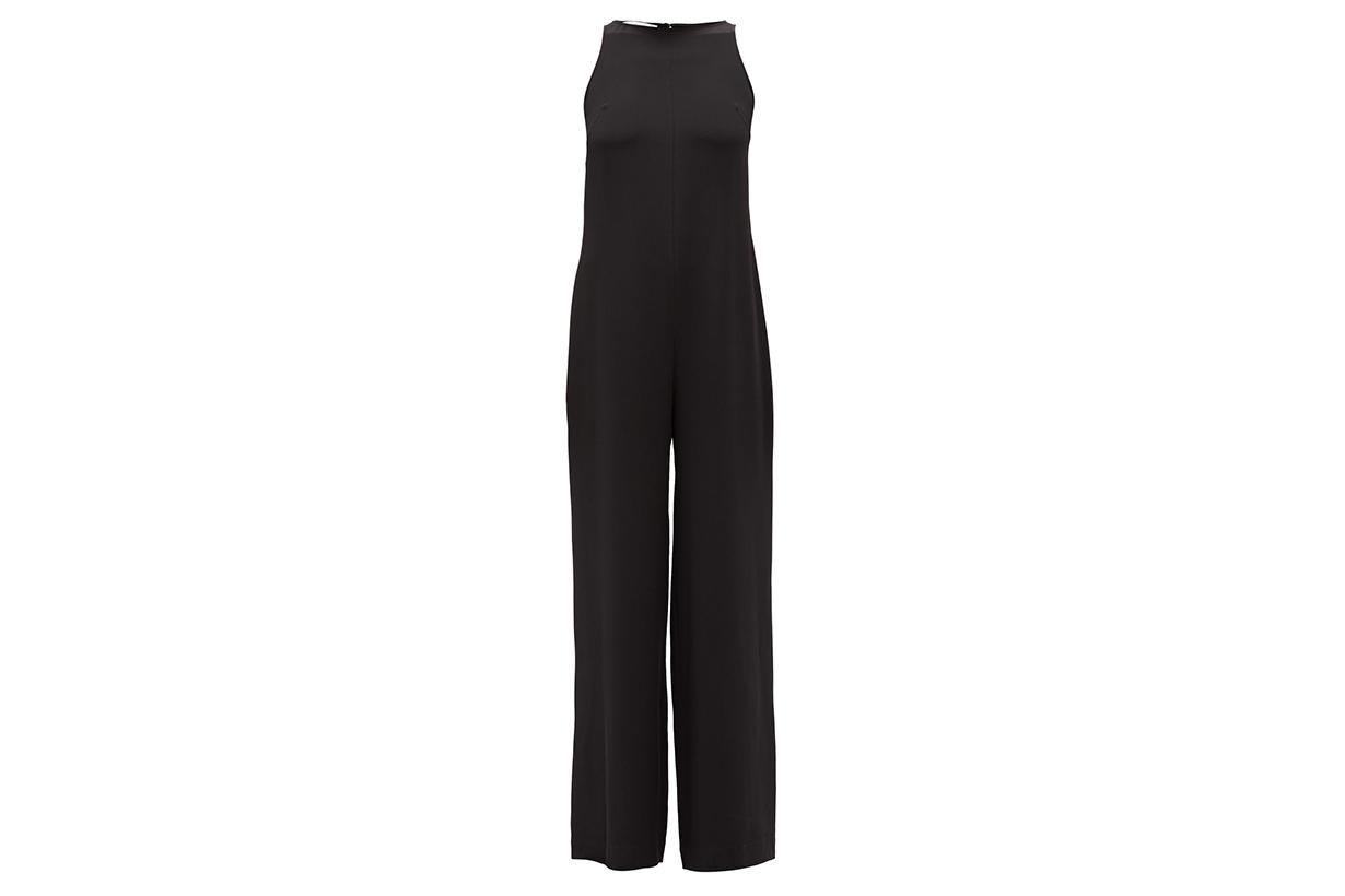 Andrea silk-crepe wide-leg jumpsuit