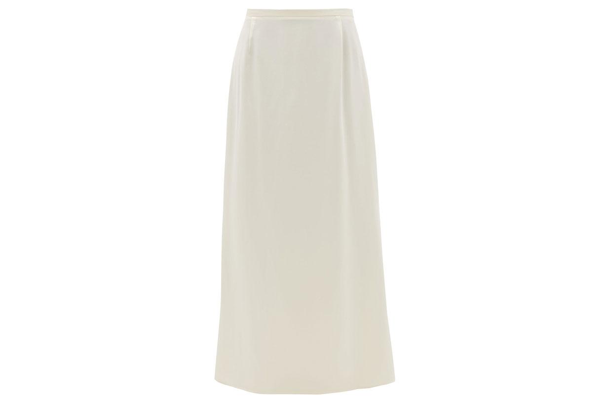 Aphrodite Silk-satin Slip Skirt