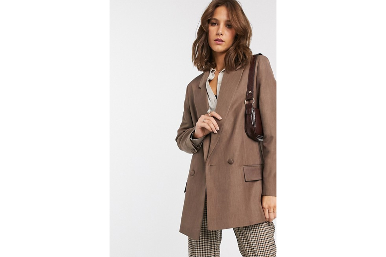 ASOS DESIGN Perfect Blazer in Brown