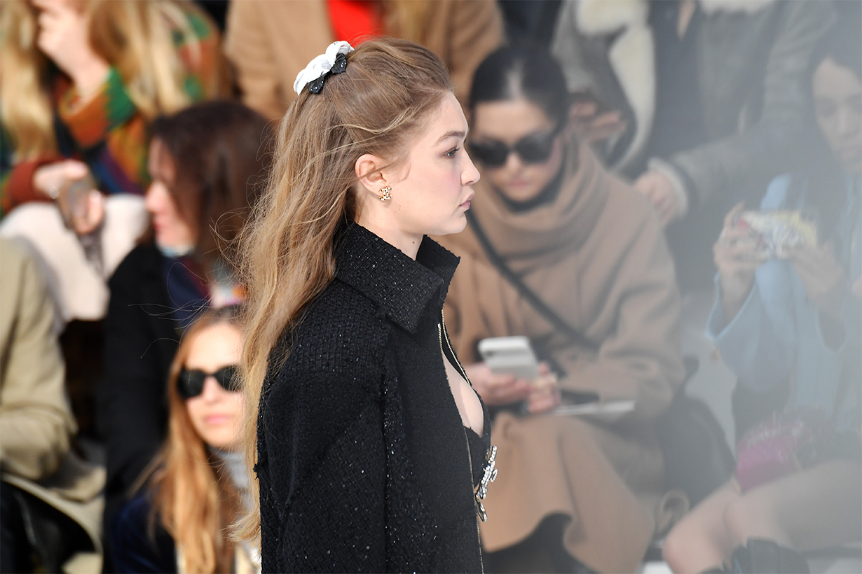 Gigi Hadid walks the runway during the Chanel as part of the Paris Fashion Week Womenswear Fall/Winter 2020/2021 on March 03, 2020 in Paris, France.