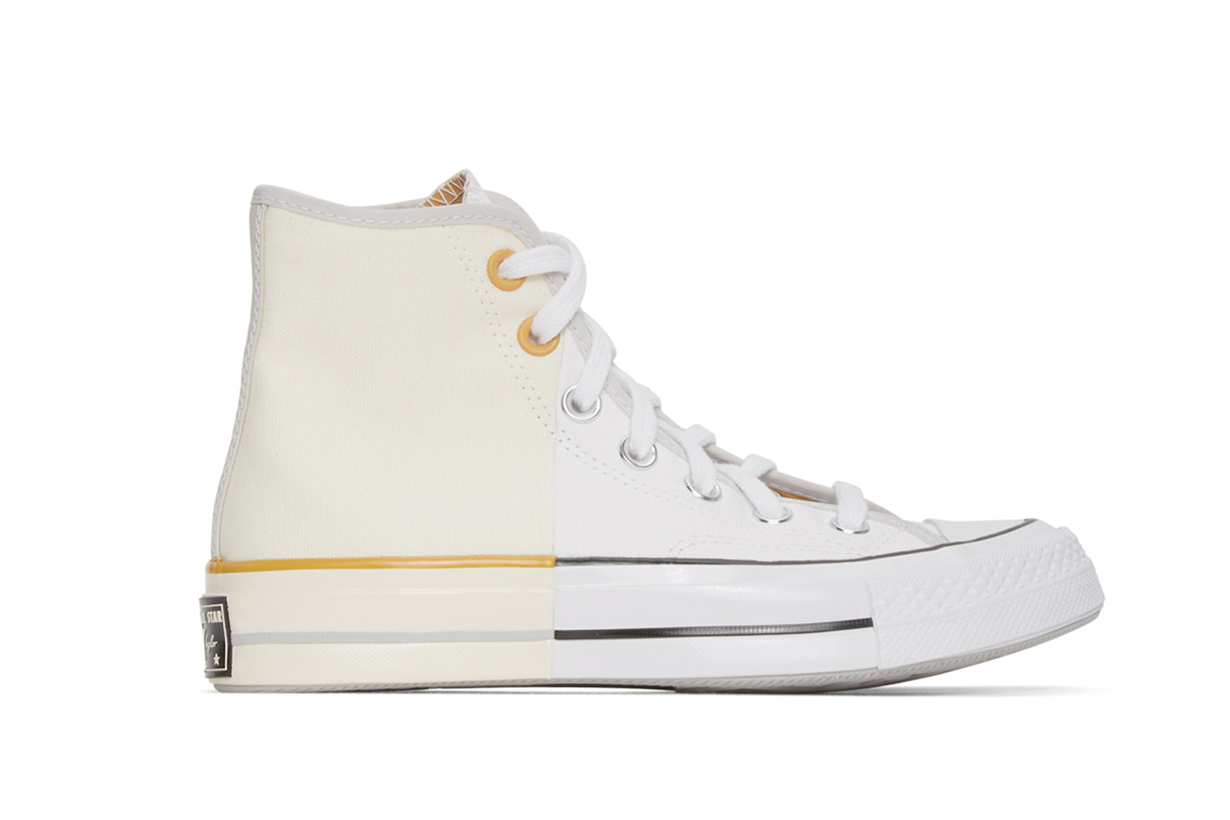 Converse White & Off-White Reconstructed Chuck 70 High