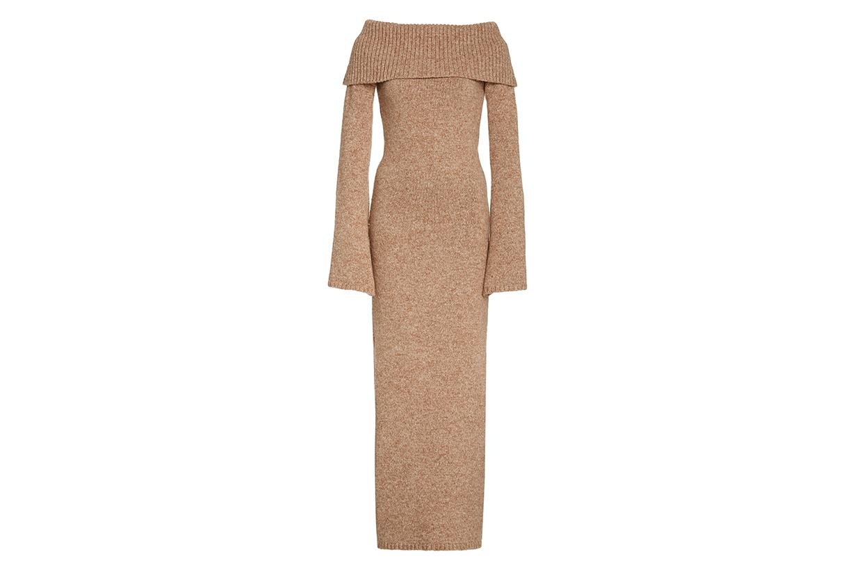 Cult Gaia Mariel Off-The-Shoulder Knit Dress