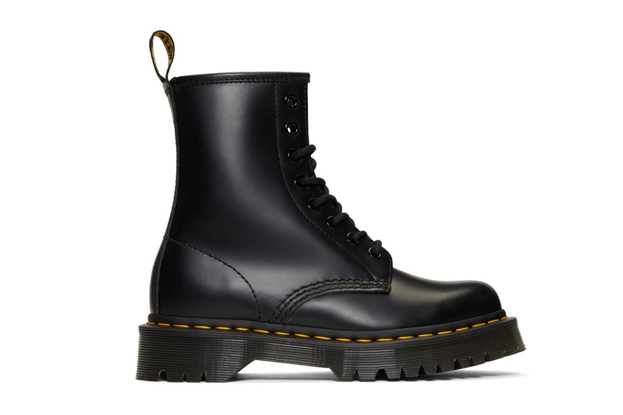 Dr. Martens Black 1460 Bex Platform Boots