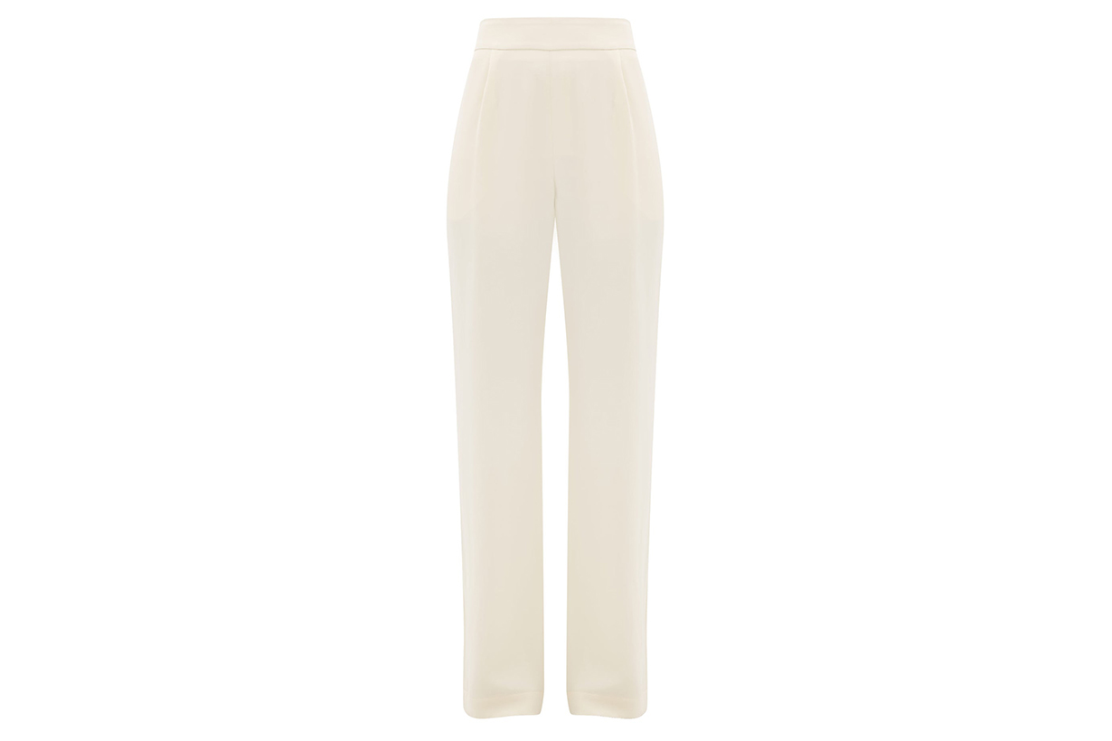 Gabrielle high-waist silk-crepe trousers