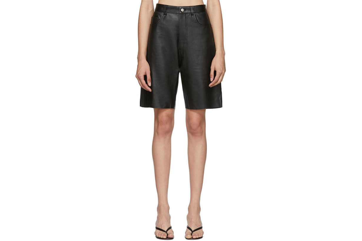 Georgia Alice Black Leather Margot Short