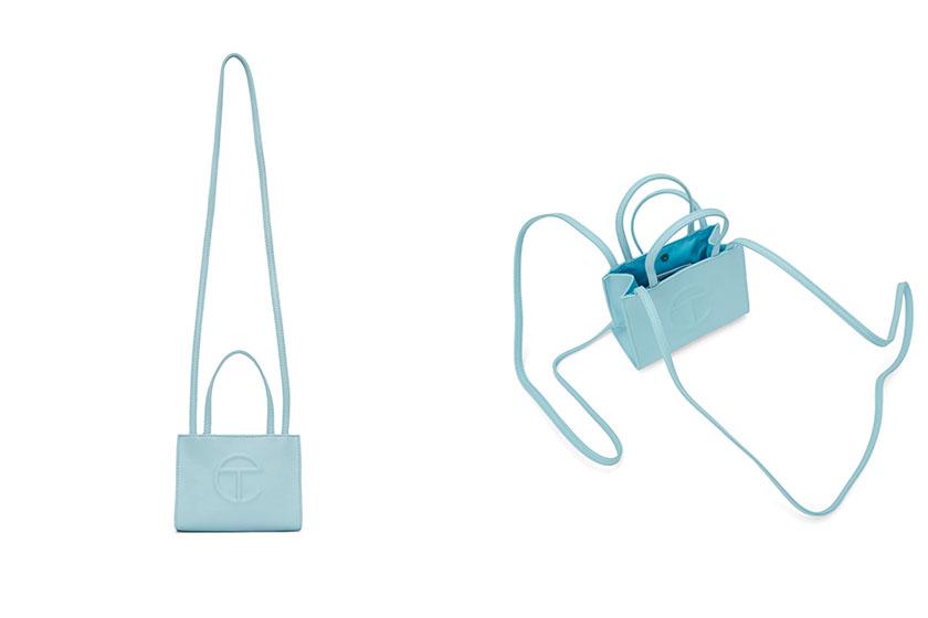 telfar logo bag pastel pink blue handbags release