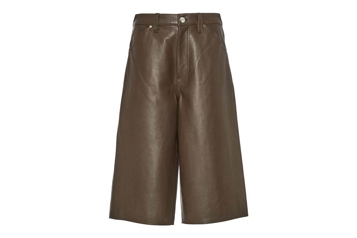 Goldsign Leather Shorts