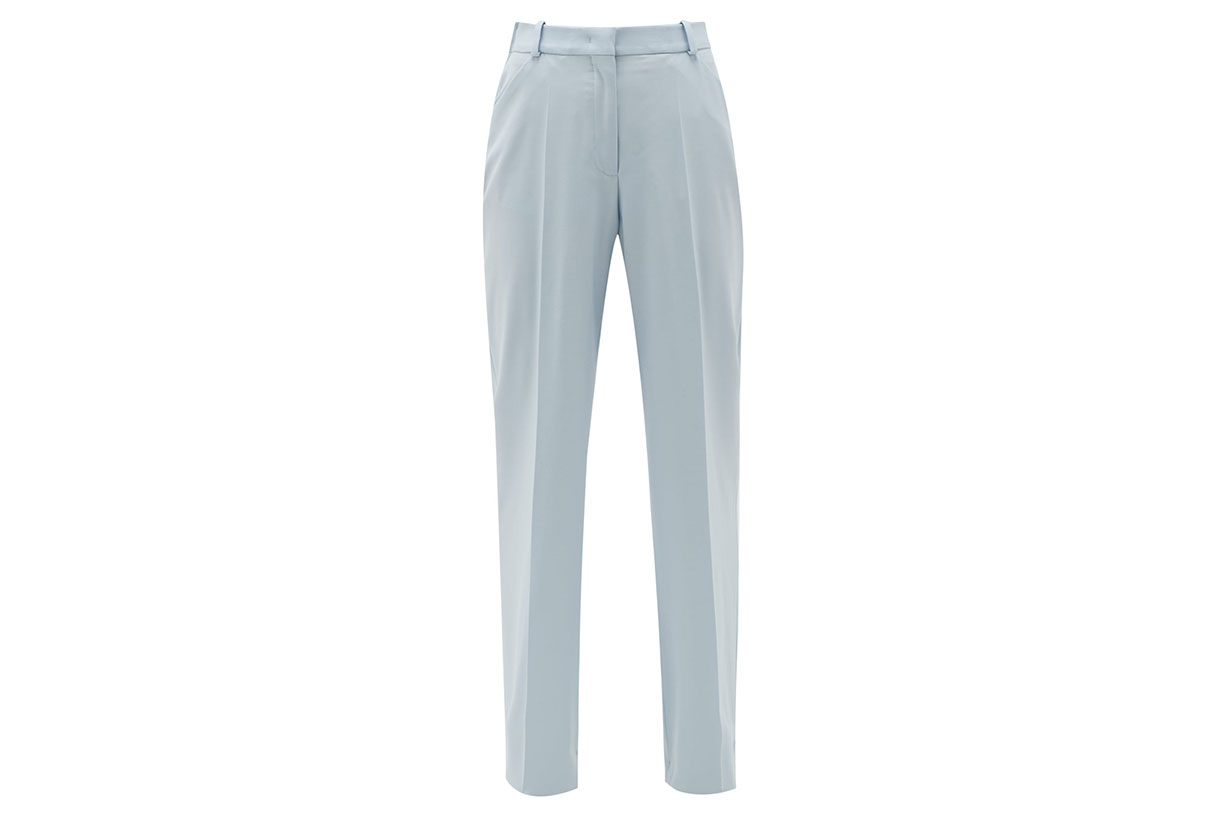 High-rise Wool Flared Trousers