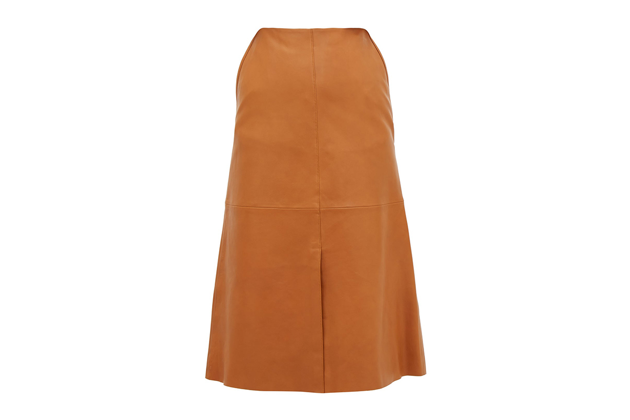 Idena Leather Midi Skirt