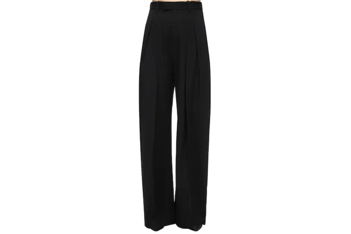 JW Anderson Wide Leg Wool Gabardine Pants