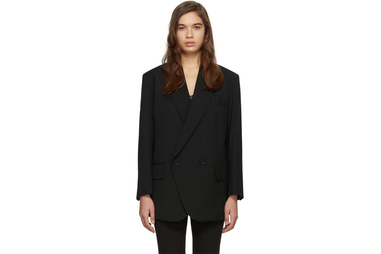 Low Classic Black Loose Fit Blazer