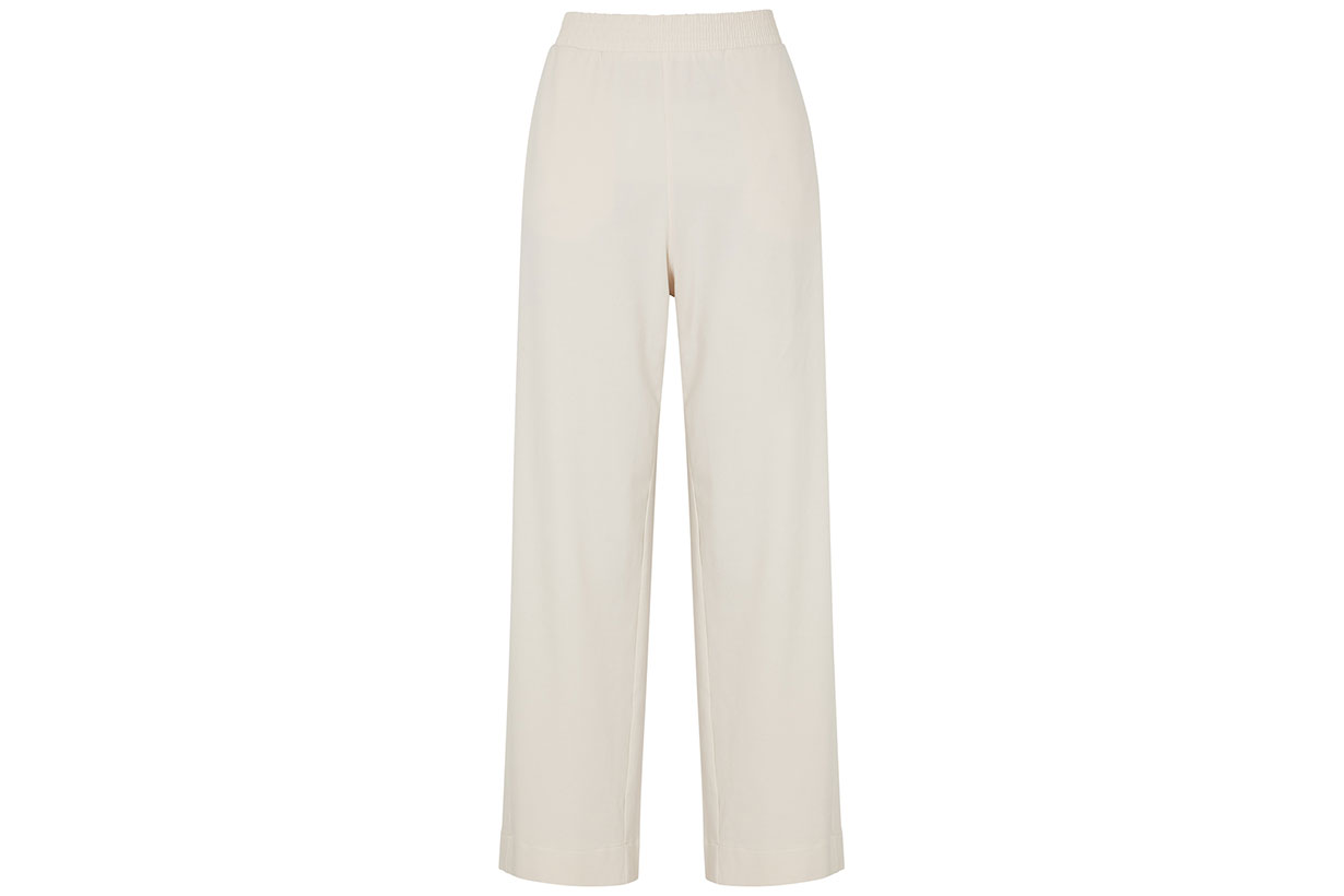 Mabel Cream Wide-leg Jersey Trousers
