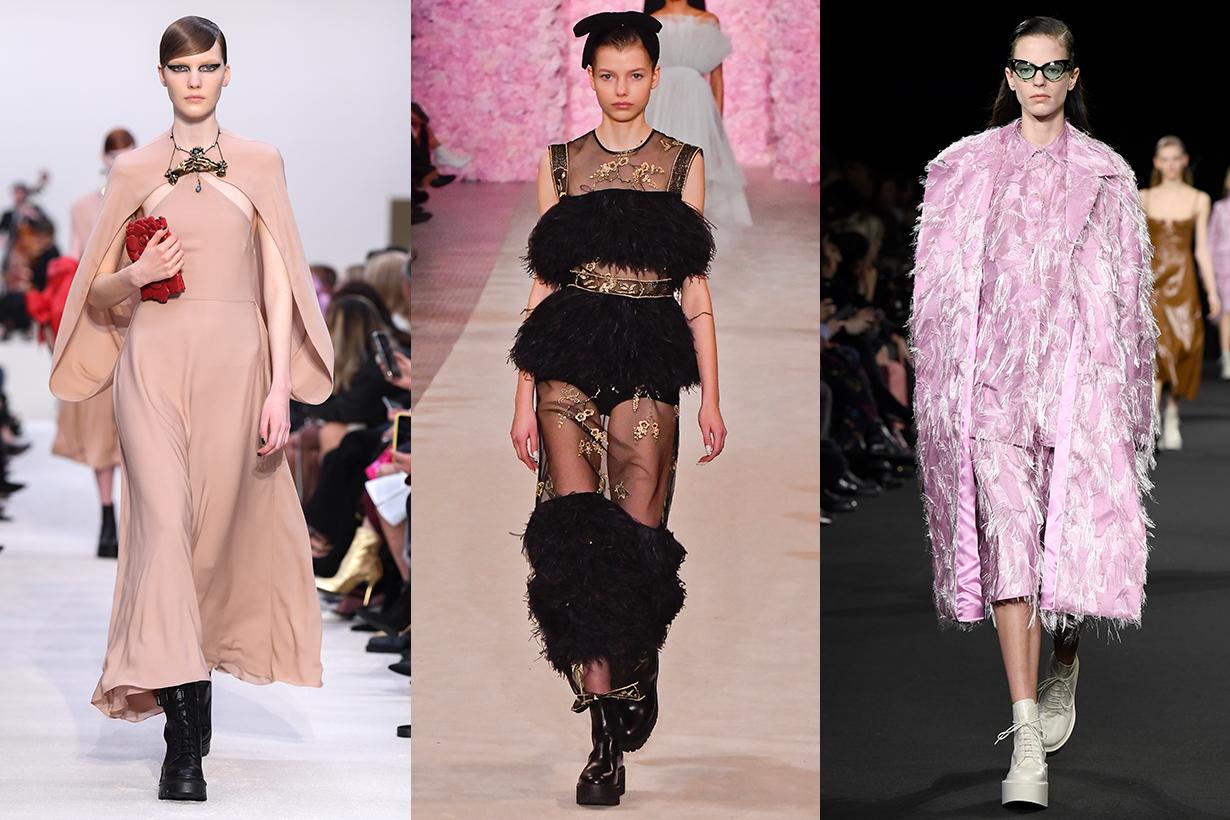 Platform Shoes Trend Valentino, Giambattista Valli, Rochas