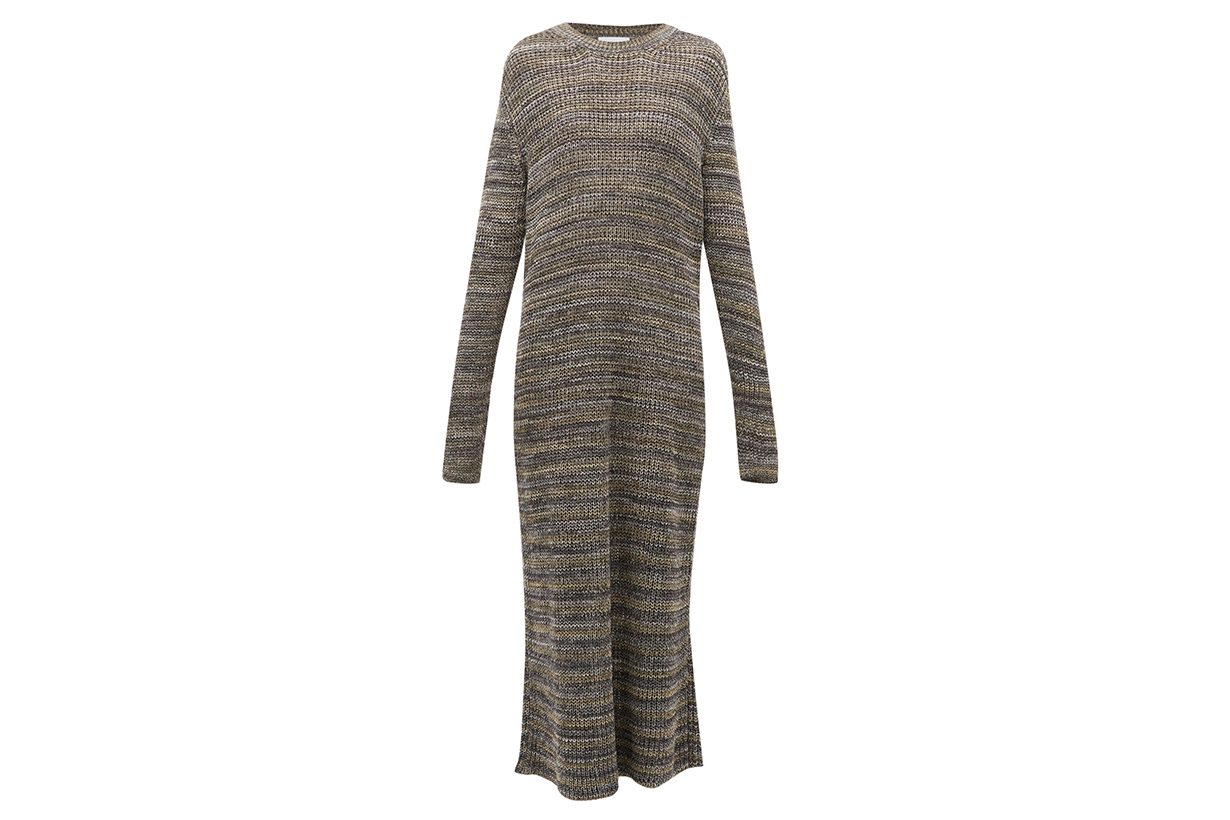 Space-dyed Yarn Knitted Maxi Dress