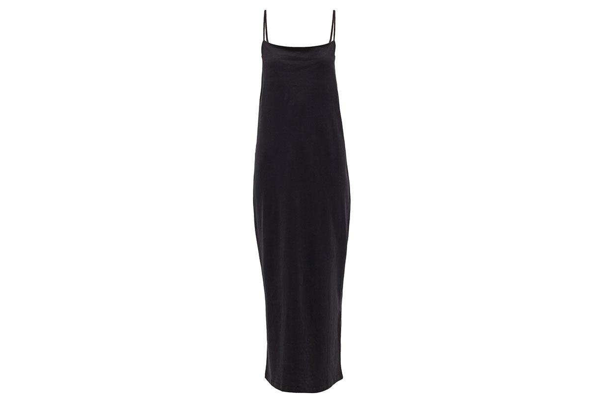 Square-neck Cotton-blend Jersey Slip Dress