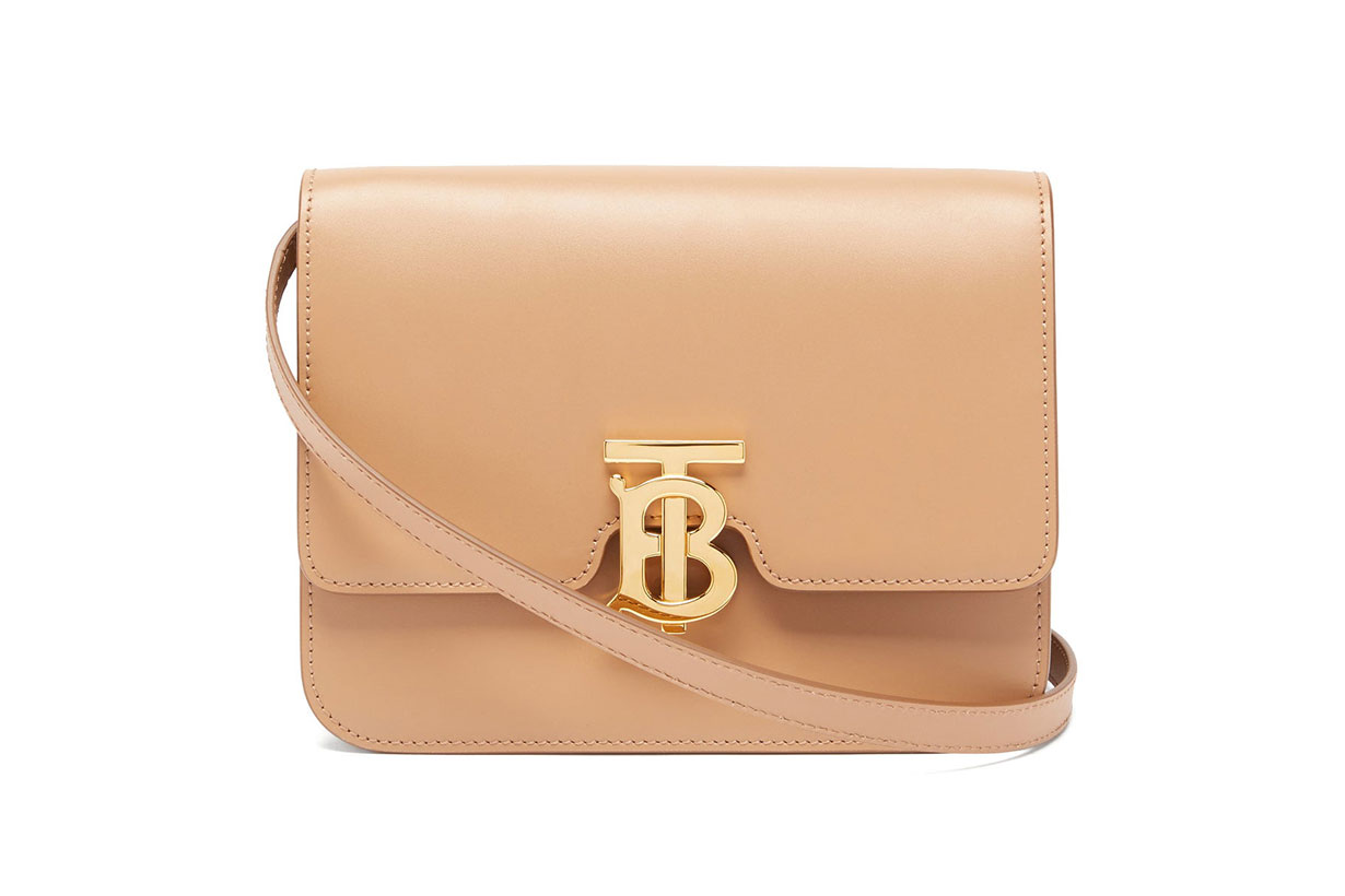 TB monogram small leather cross-body bag