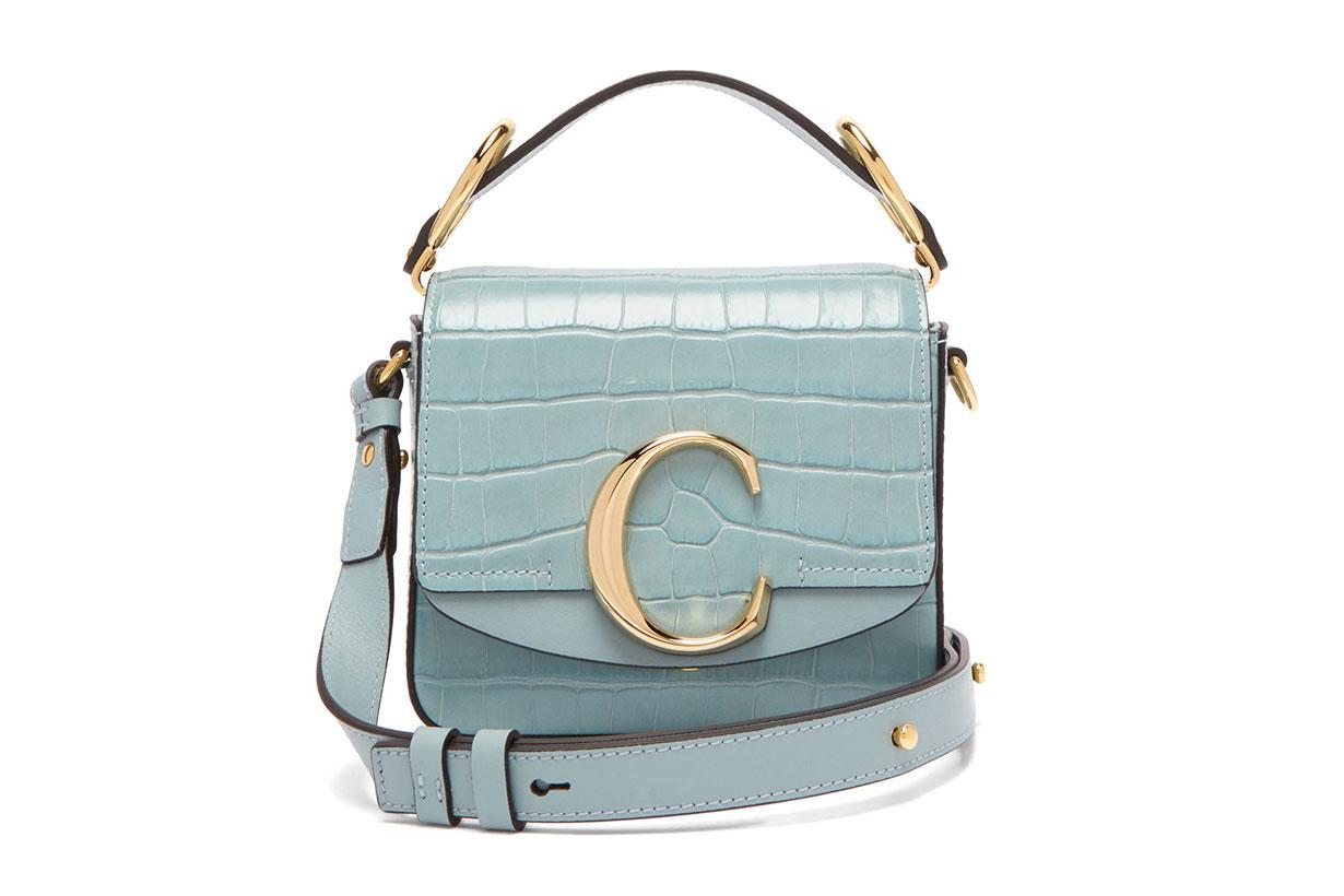 The C Mini Crocodile-effect Leather Cross-body Bag
