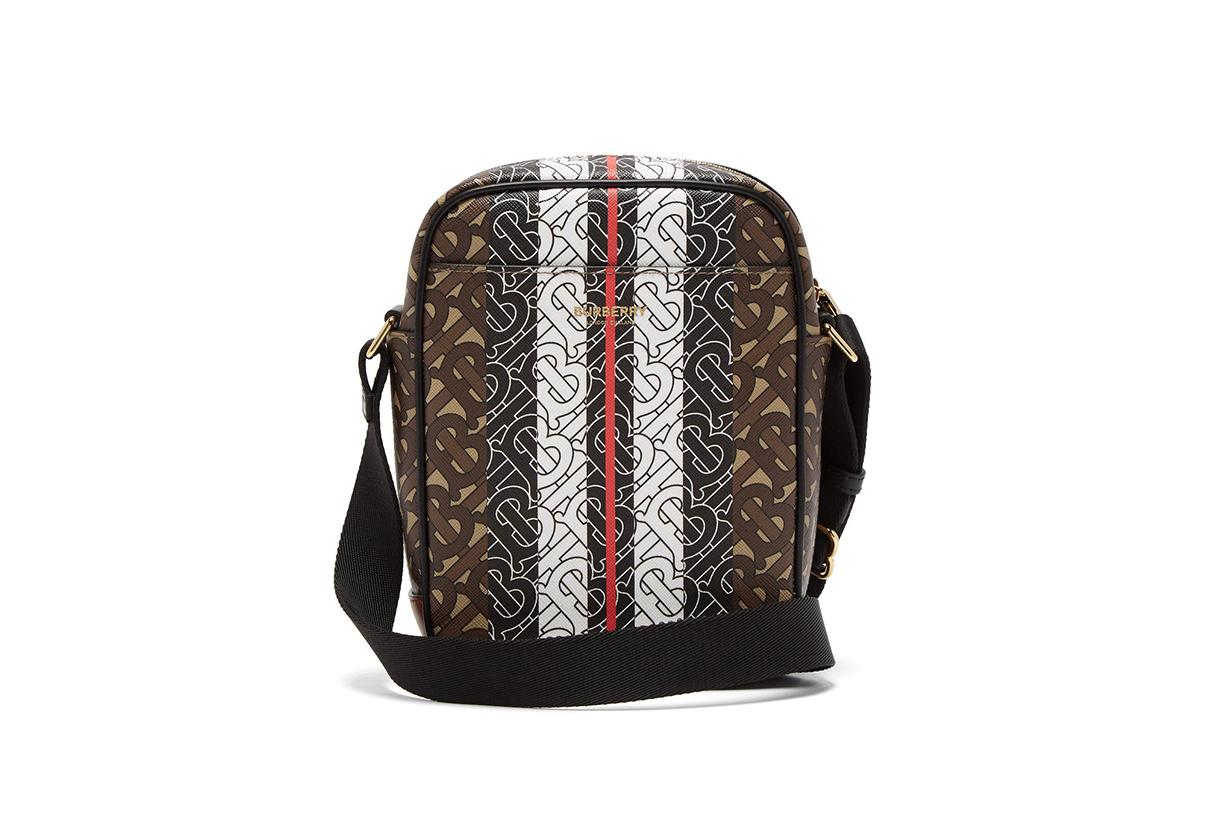 Thornton TB-monogram coated-canvas messenger bag