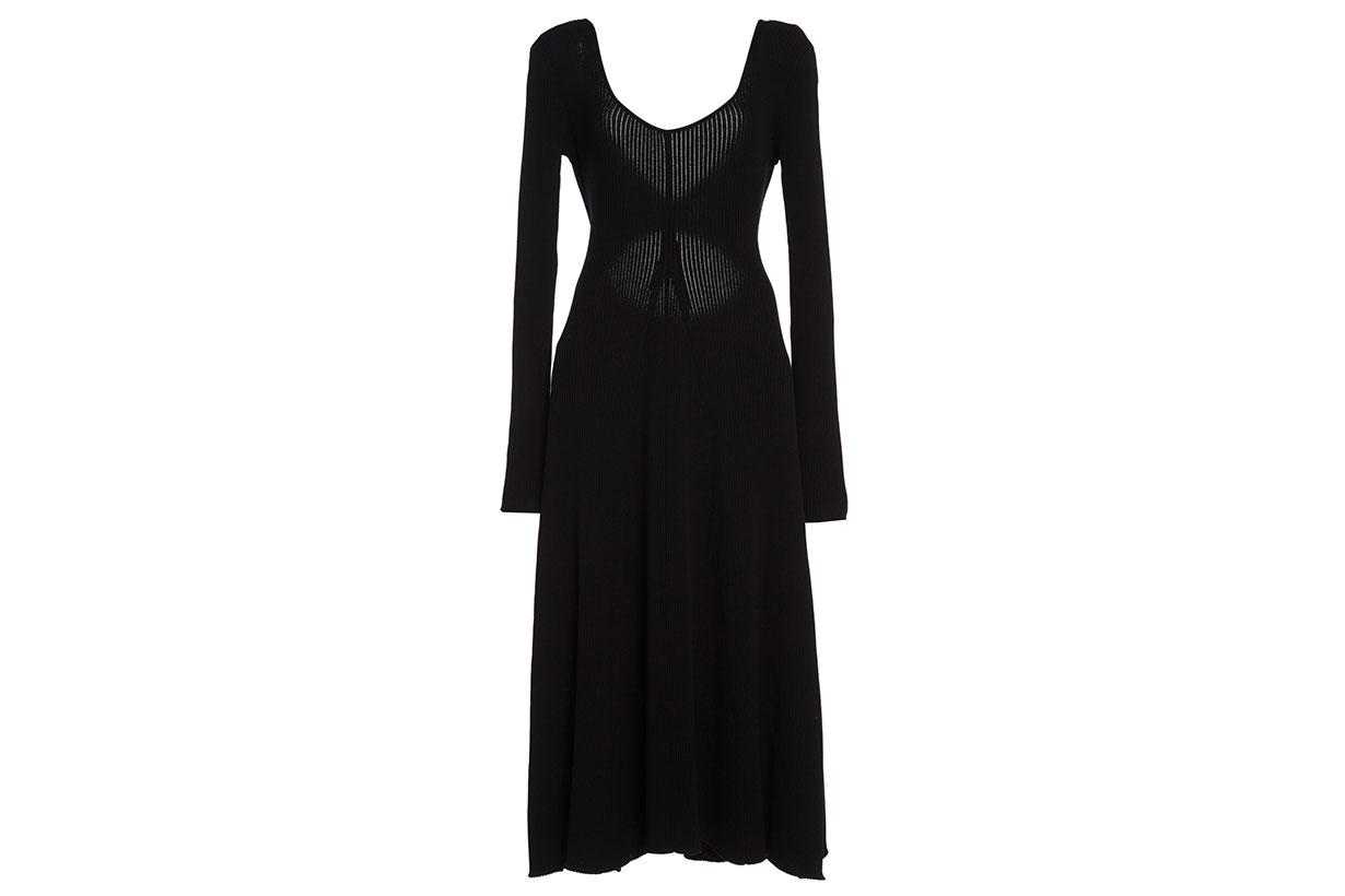 Zeynep Arçay Open Back Midi Knit Dress