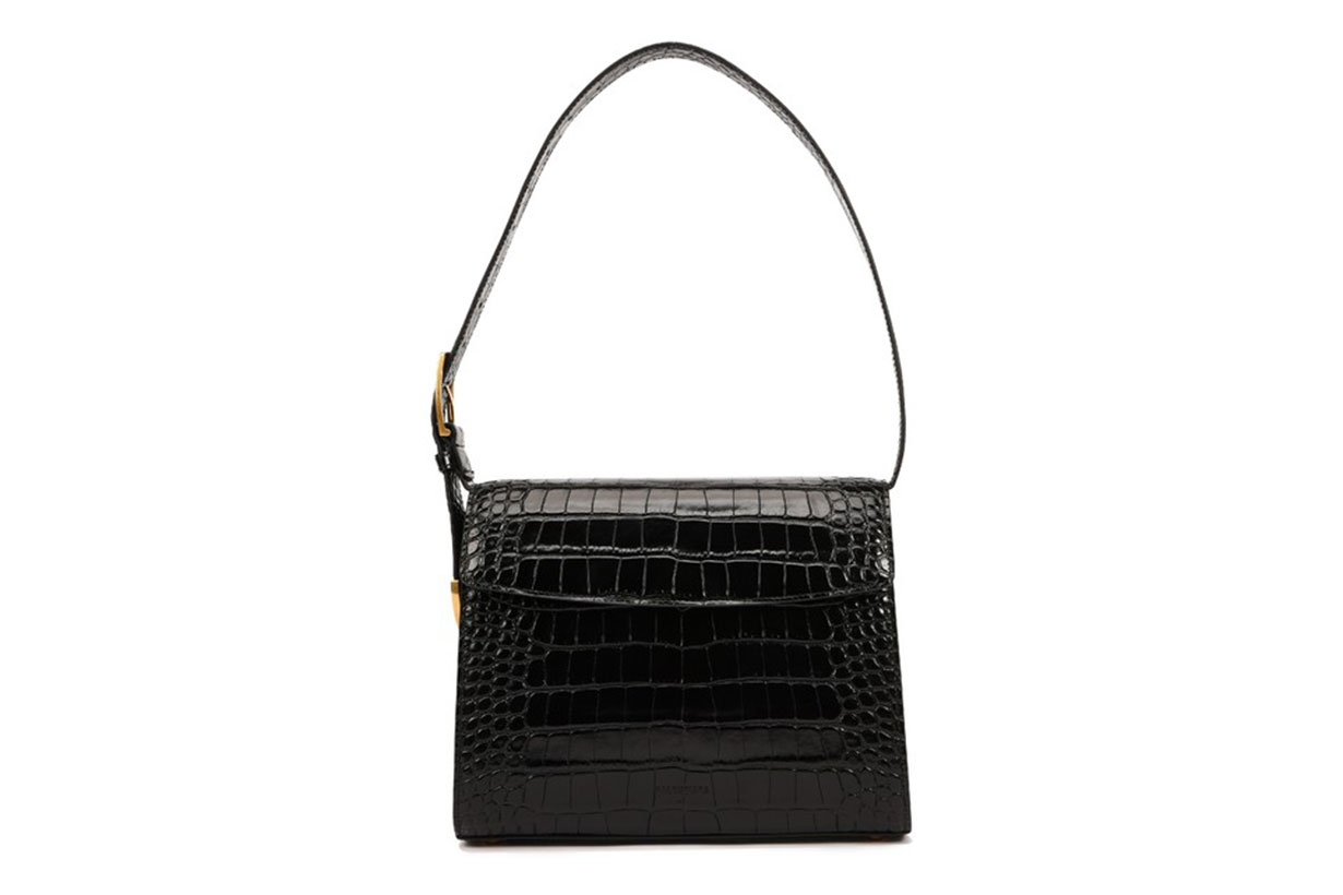 BALENCIAGA Lizard effect leather medium Belt Bag