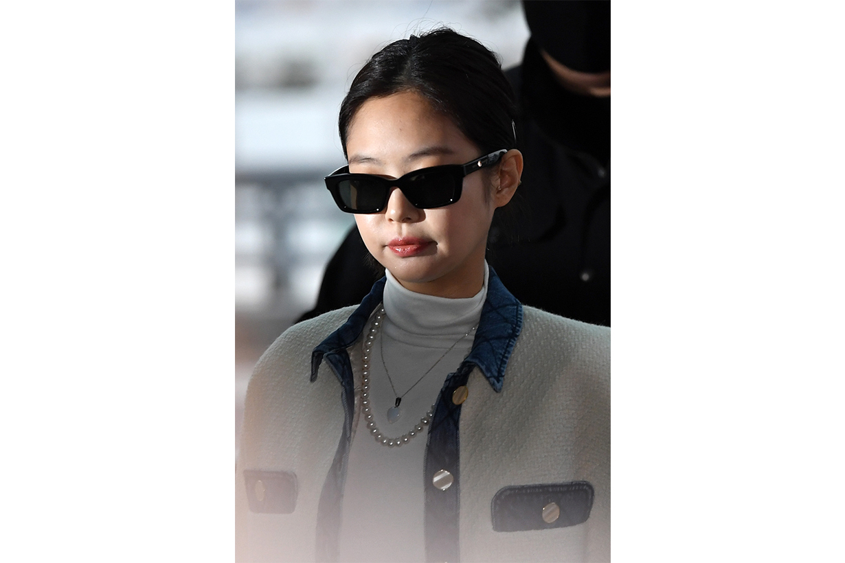 Jennie of BLACKPINK is seen upon departing at Incheon International Airport on February 21, 2020 in Incheon, South Korea.