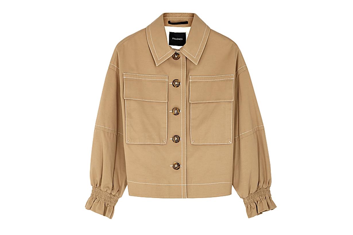 Camel twill jacket