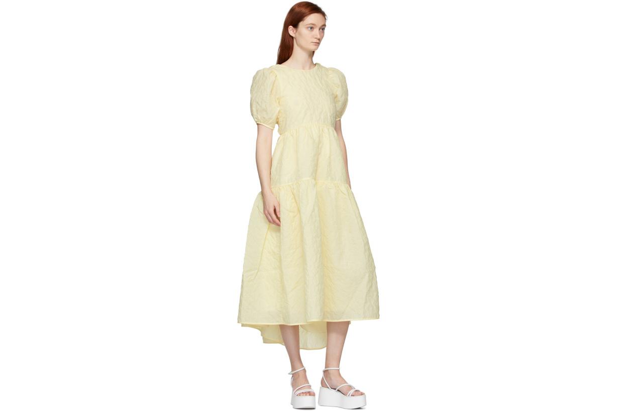 Cecilie Bahnsen Yellow Karoline Dress