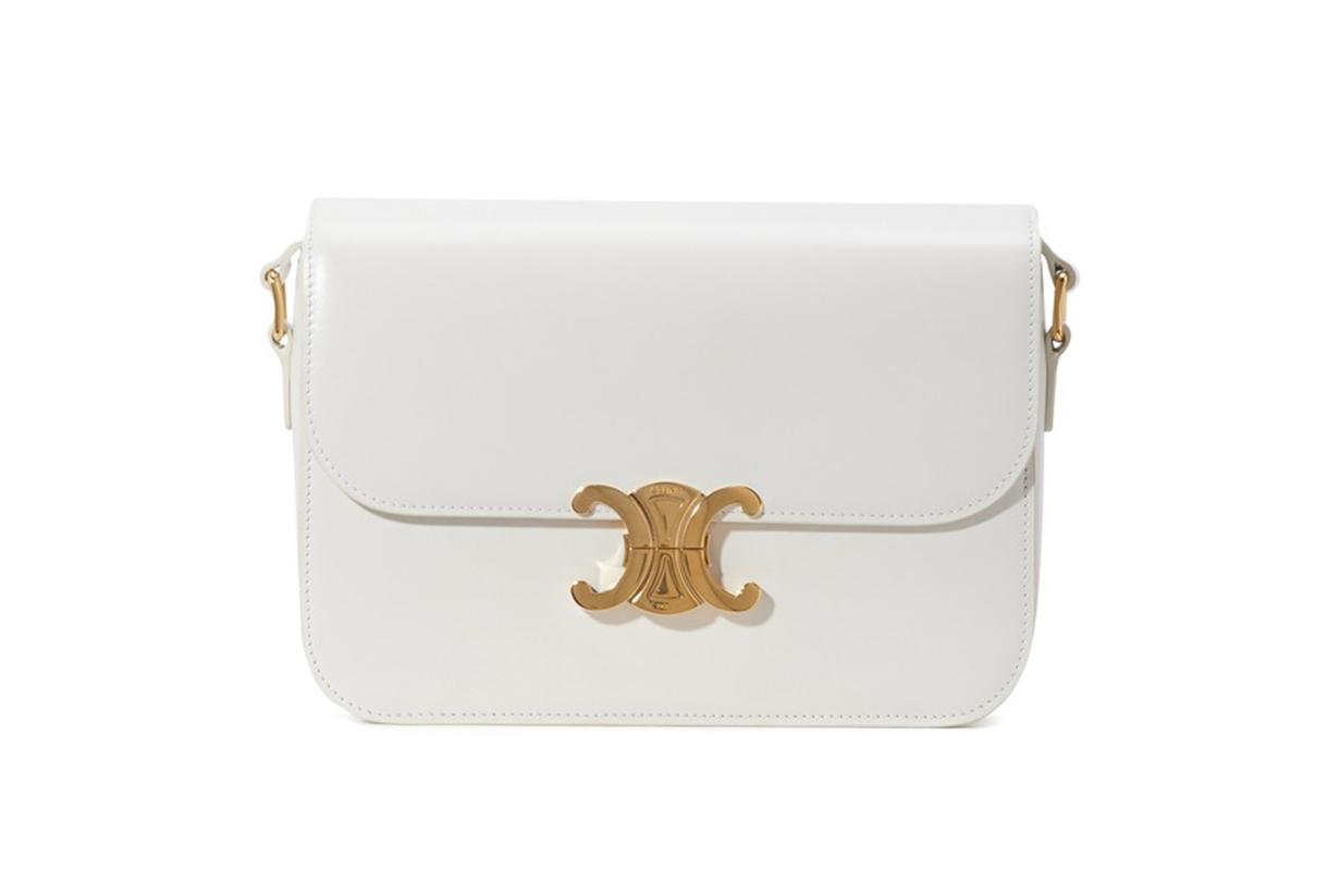CELINE Medium Triomphe bag in polished calfskin