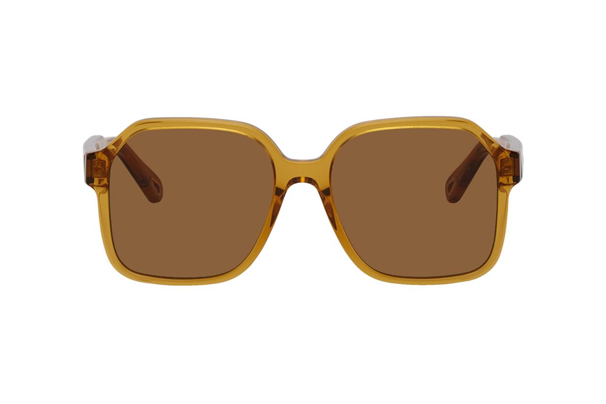 Chloé Brown Acetate Square Sunglasses