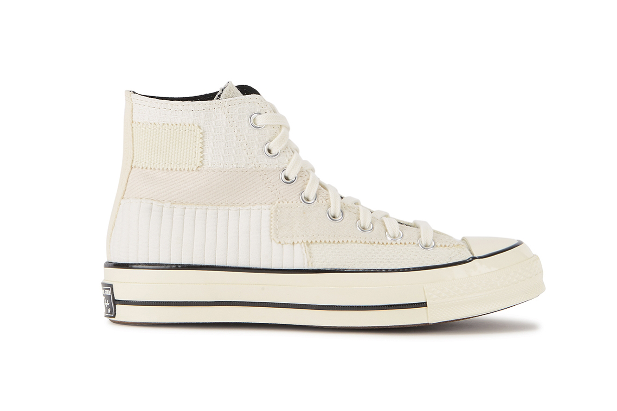 Chuck 70 off-white patchwork hi-top sneakers
