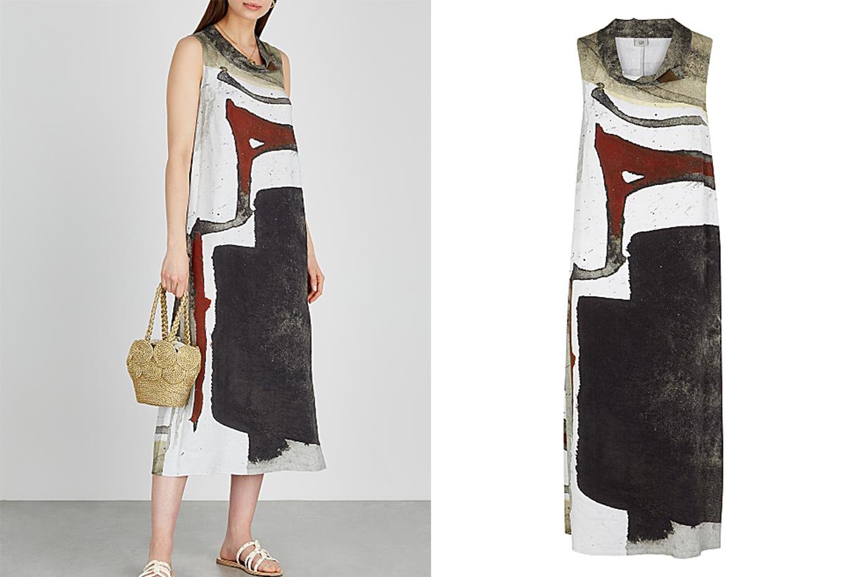 CREA CONCEPT Printed woven midi dress