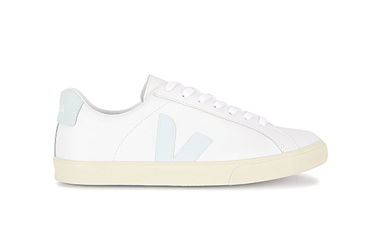 Esplar white leather sneakers