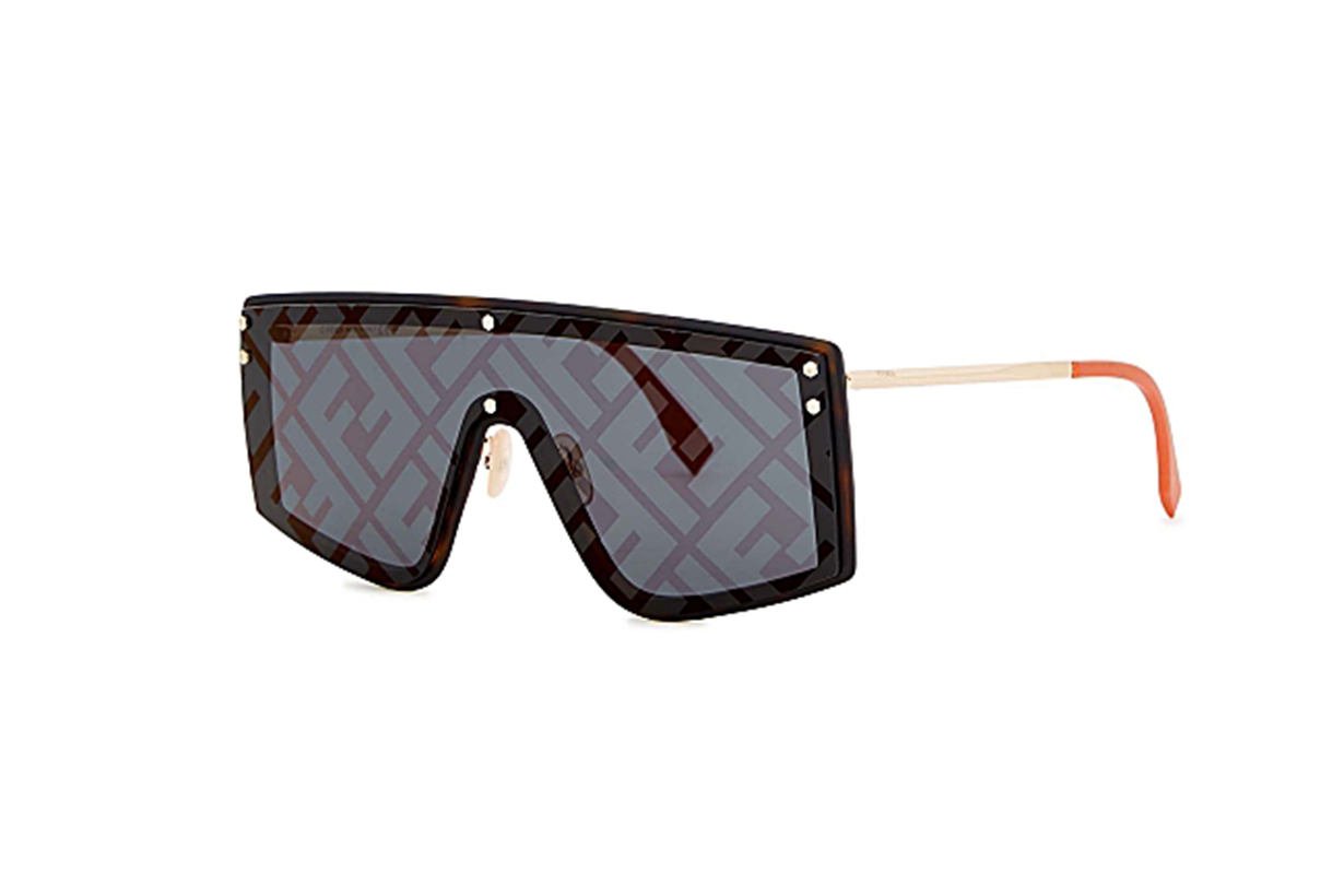 FENDI Monogrammed D-frame sunglasses