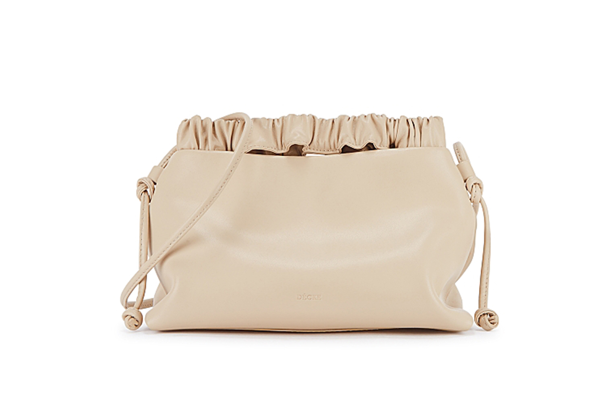 Flow cream leather shoulder bag