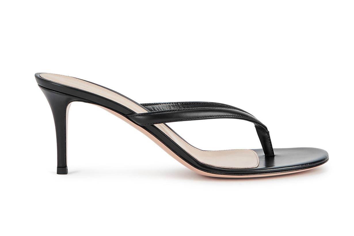 GIANVITO ROSSI Calypso 70 black leather sandals