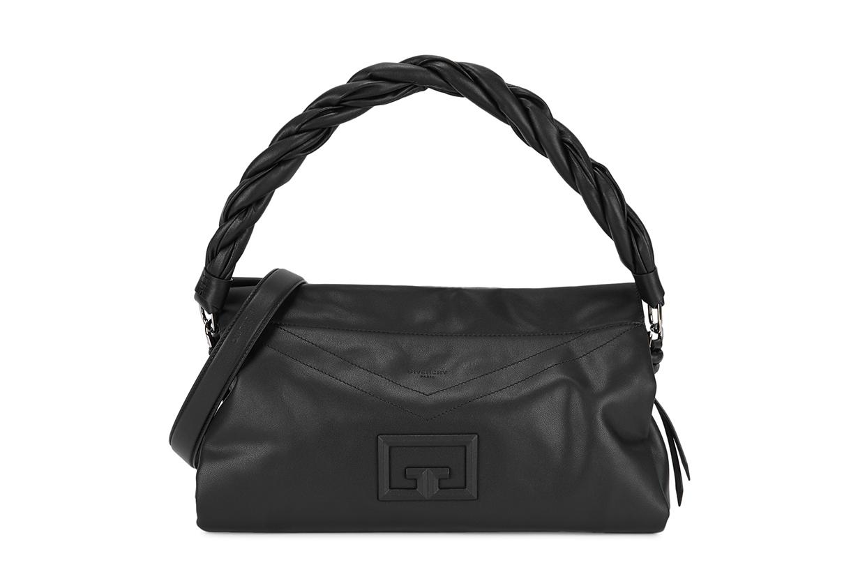 GIVENCHY  ID93 large black leather shoulder bag