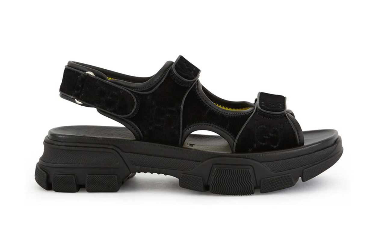 GUCCI Velvet sandals