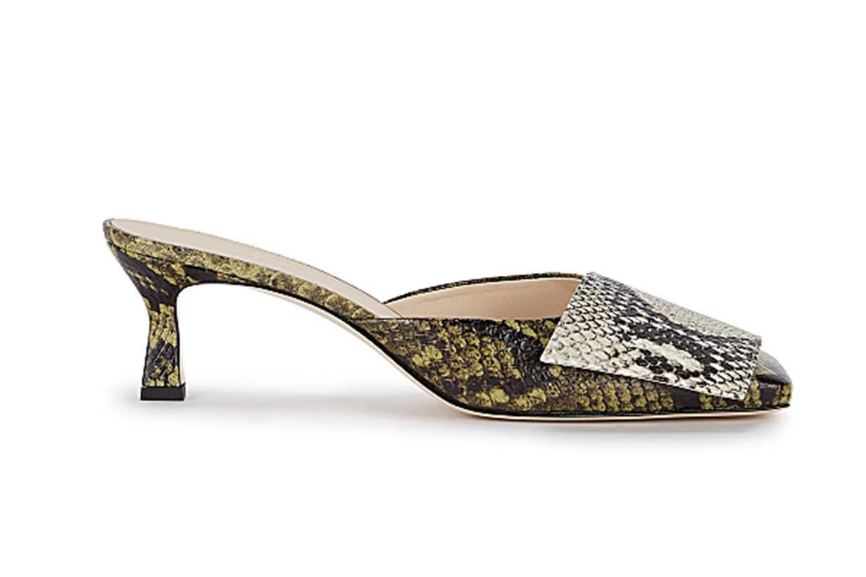 Isa 50 python-effect leather mules