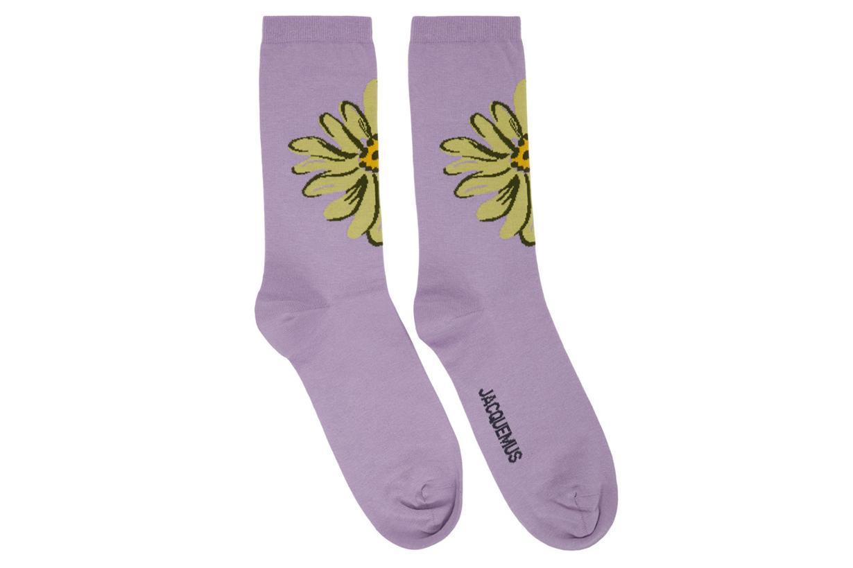 Jacquemus Purple 'Les Chaussettes Fleurs' Socks