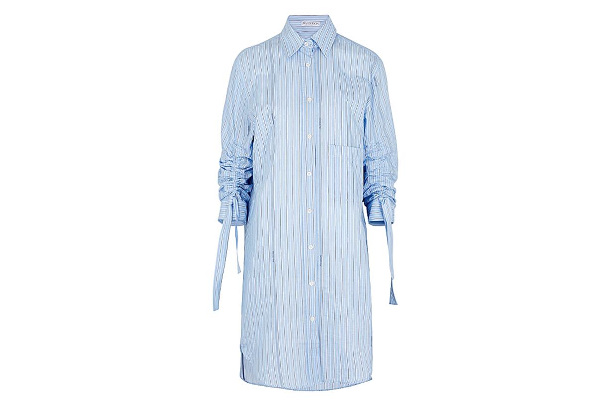 JW ANDERSON  Blue striped cotton shirt dress