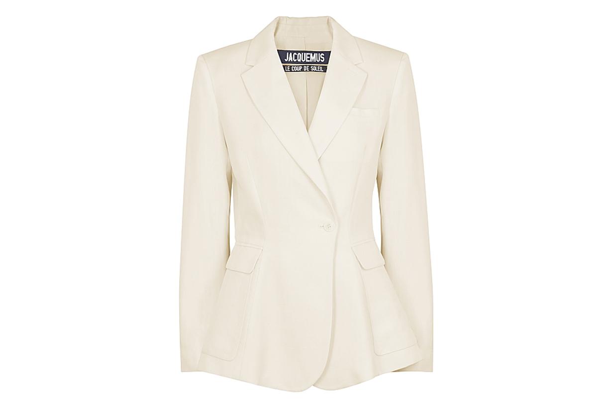Le Veste Qui Vole white twill blazer