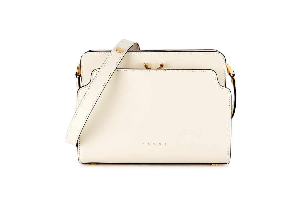 MARNI Trunk Reverse ivory leather shoulder bag