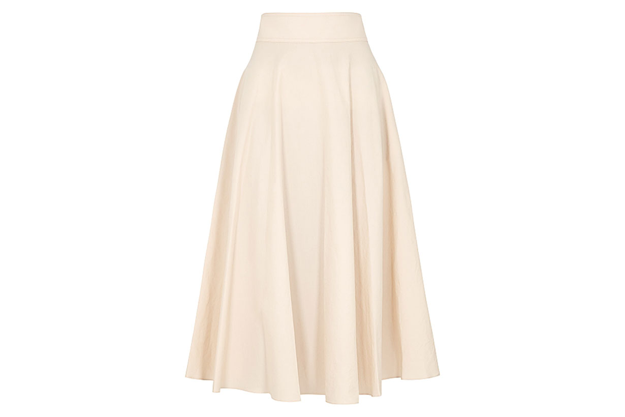 Ninette peach cotton midi skirt