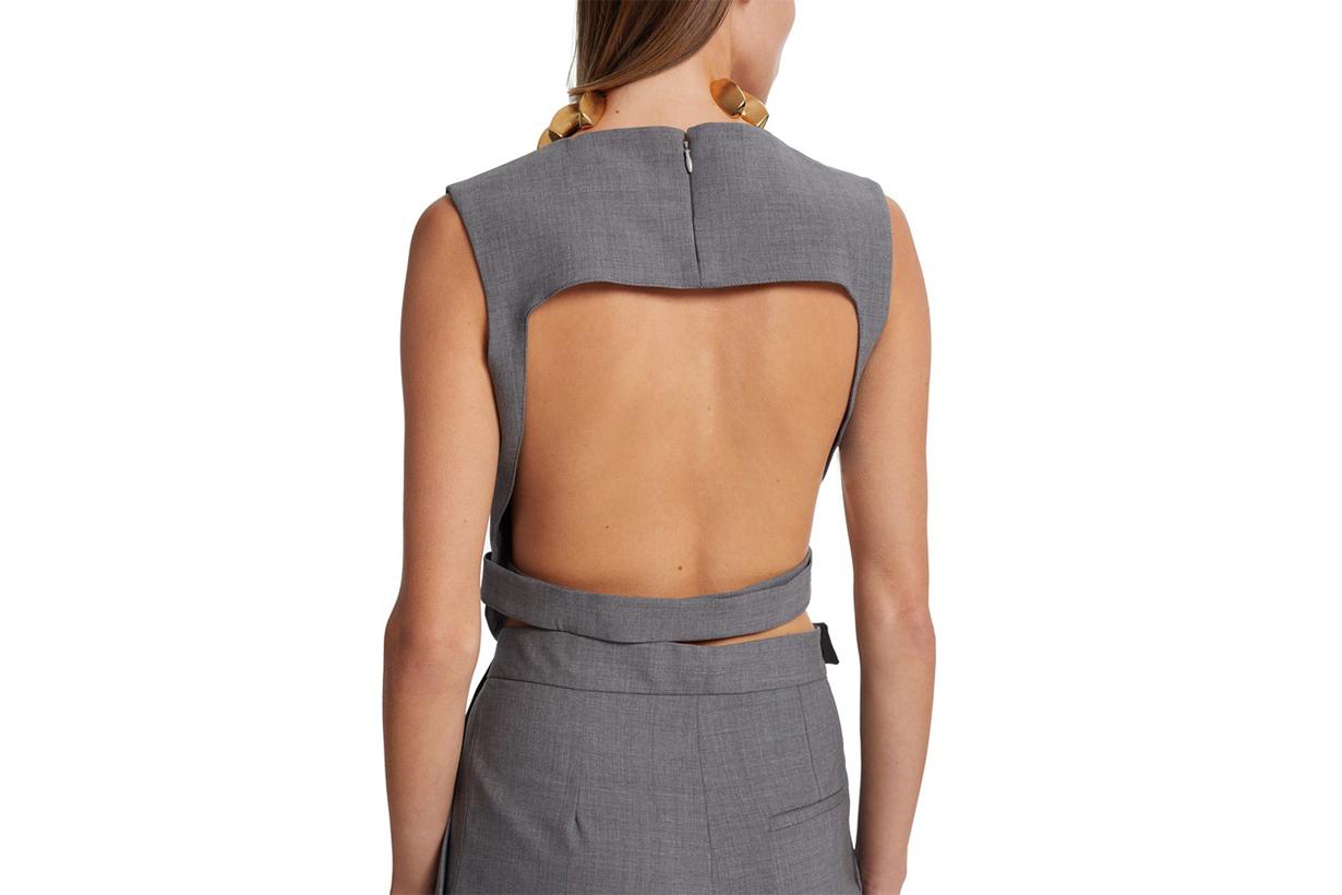 Open Back Vest Wool Top