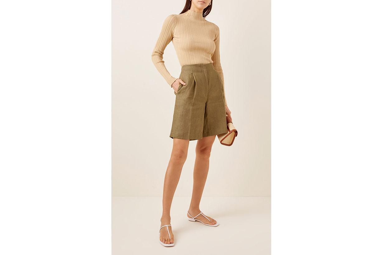 Rangiroa Linen Bermuda Shorts