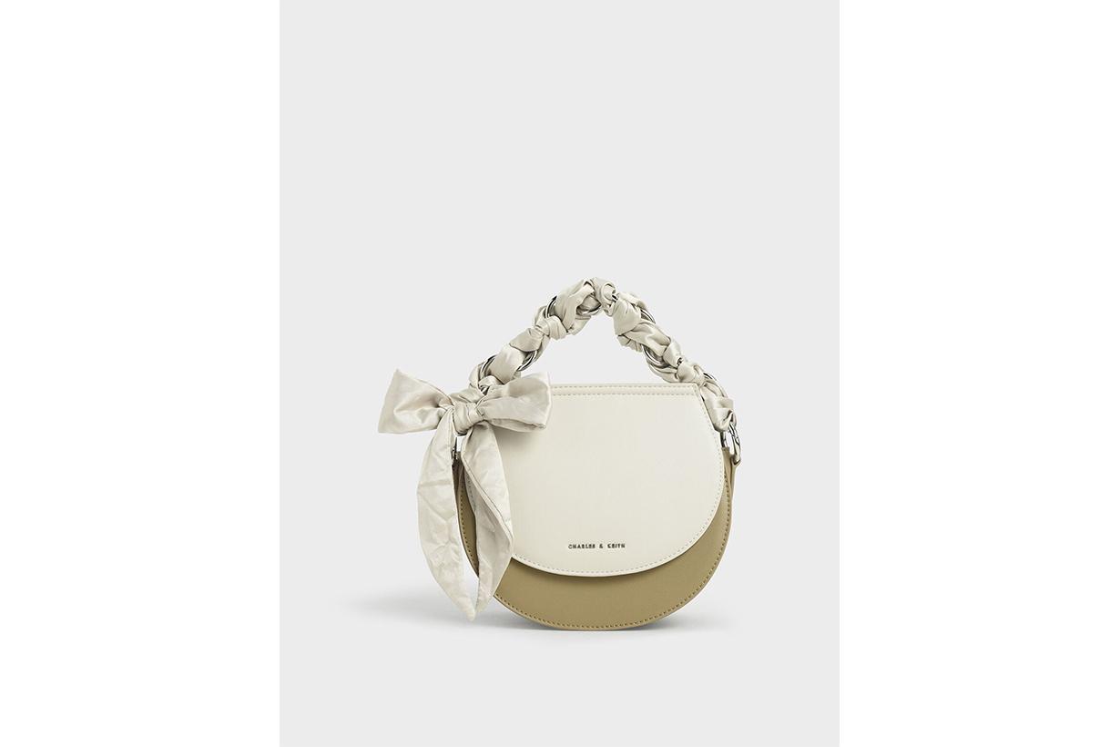 Satin Scarf Semi Circle Bag