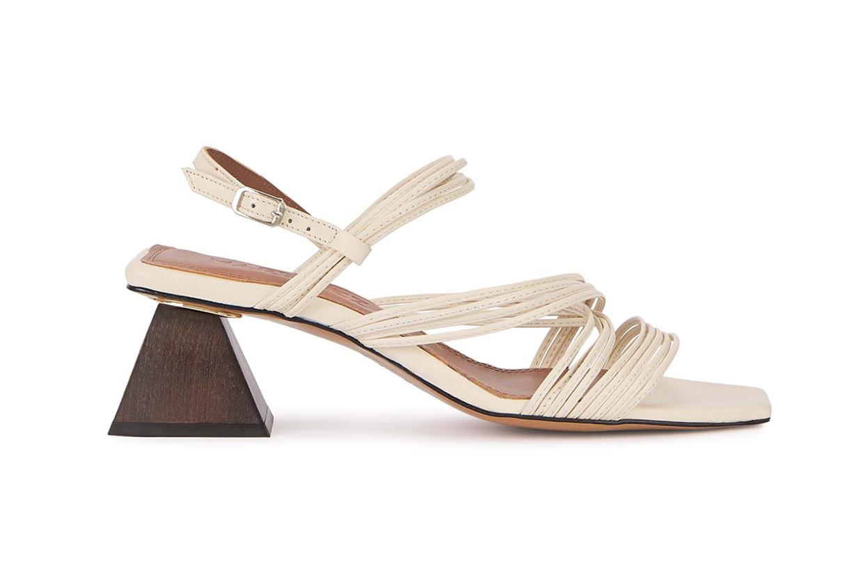 SOULIERS MARTINEZ Penelope 55 slingback leather sandals