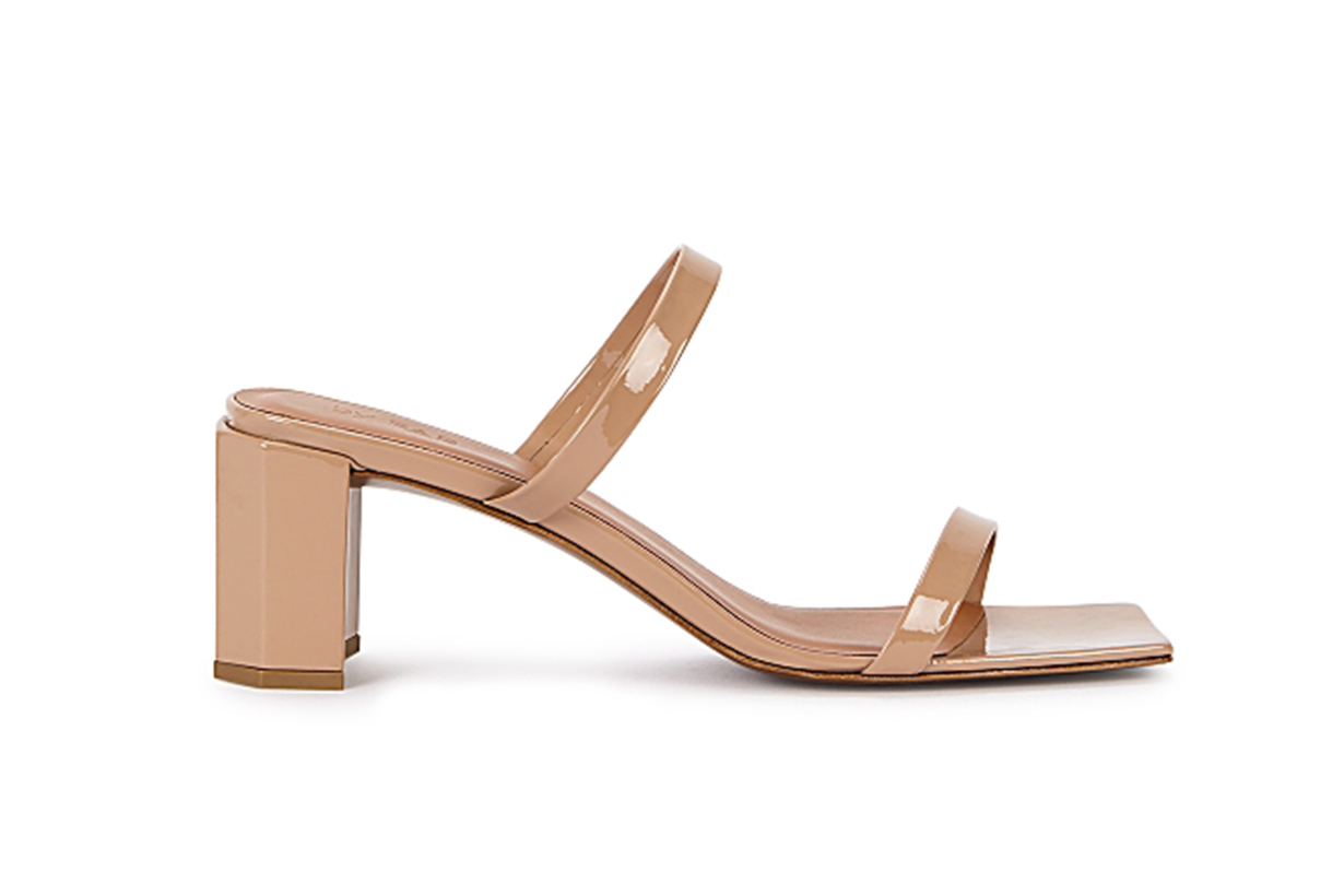 Tanya 65 almond leather mules