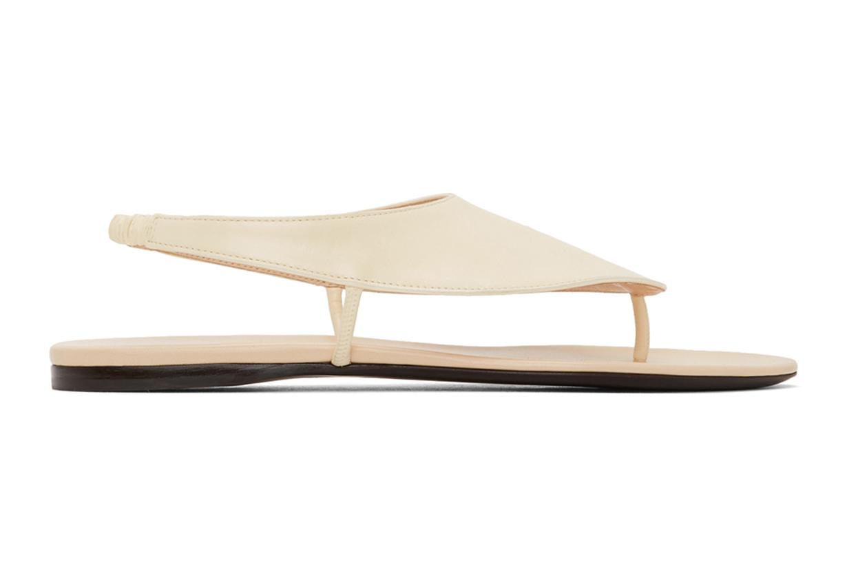 The Row Off-White Ravello Sandals